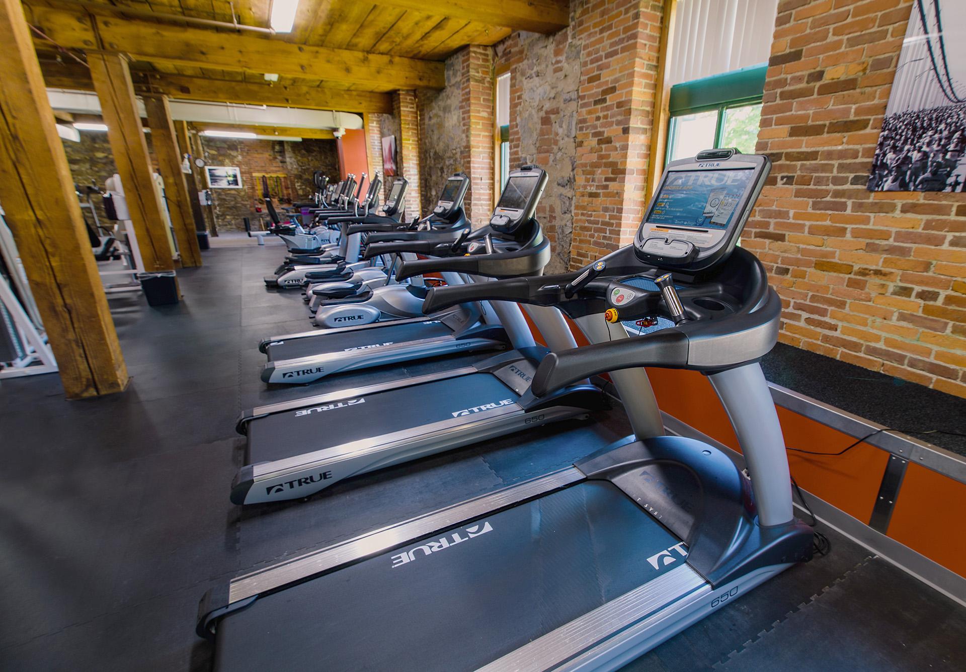 health club treadmills at The Woolen Mill