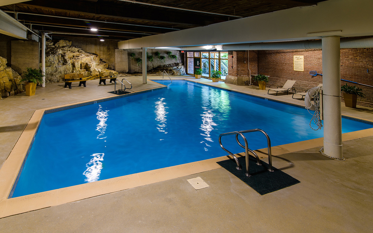 Our indoor swimming pool is a popular amenity