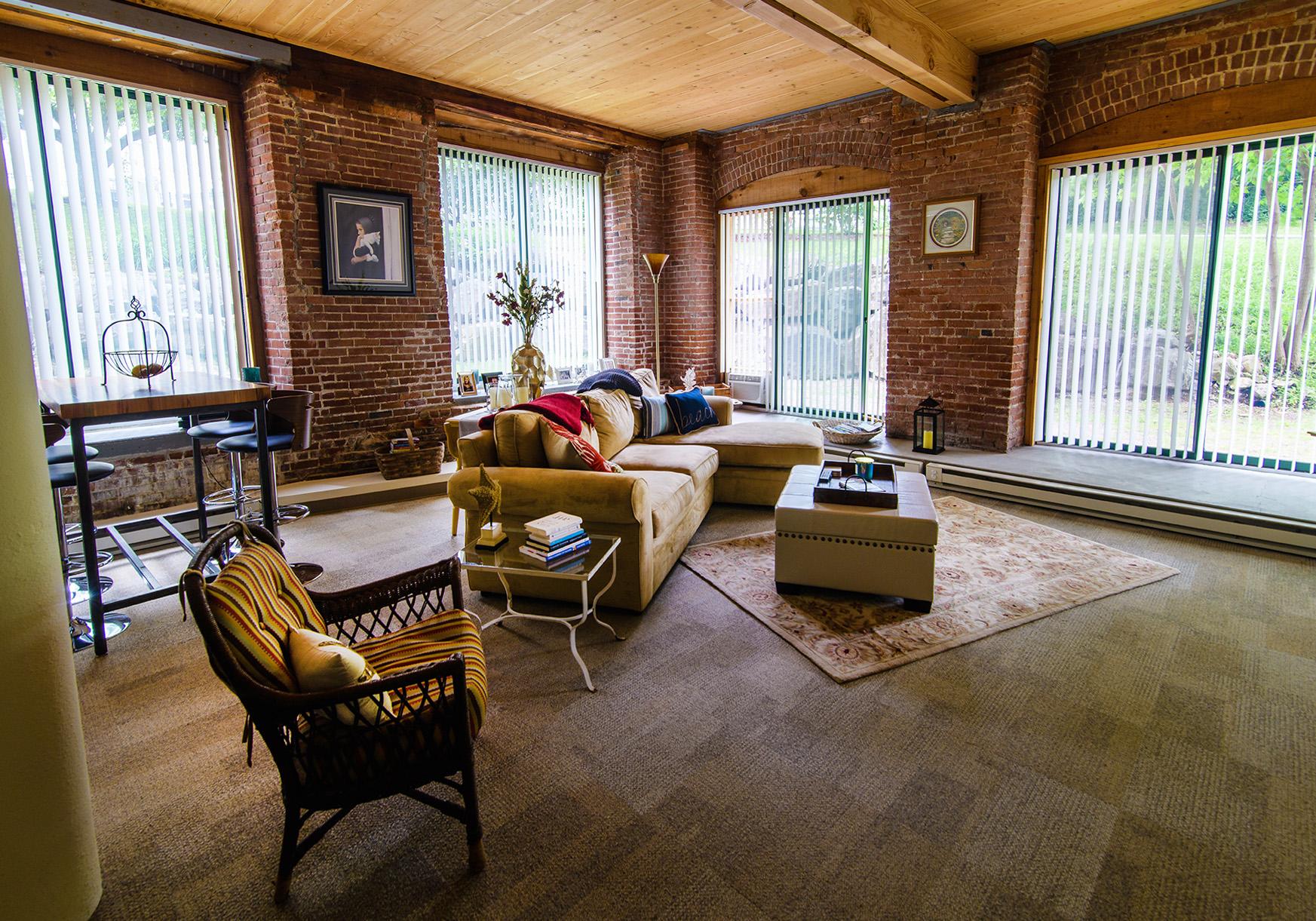 Loft apartment living area